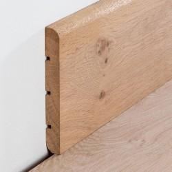 Plinthe chêne massif huilés aspect bois brut - arrondie